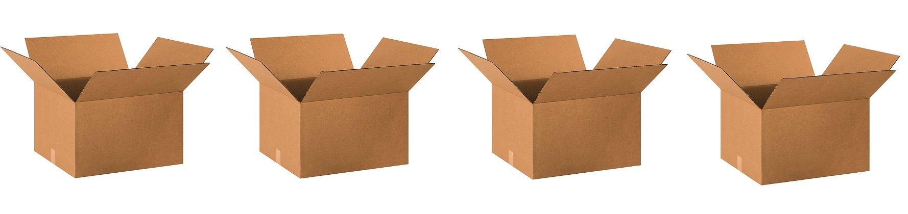 Aviditi 201812 Single-Wall Corrugated Box, 20'' Length x 18'' Width x 12'' Height, Kraft (Bundle of 10) (4-(Bundle of 10))