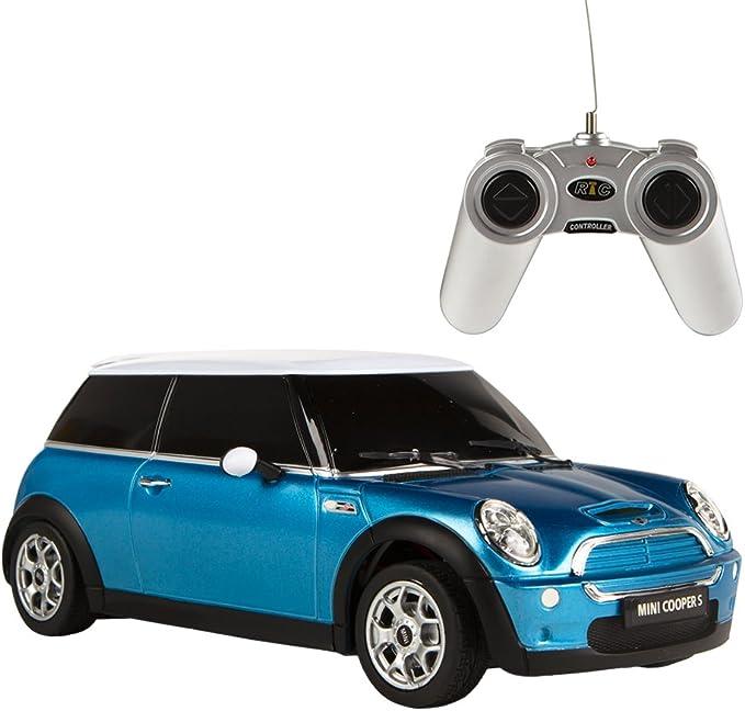 Rastar Coche teledirigido 1:18 Mini Cooper, color azul (ColorBaby 85202)