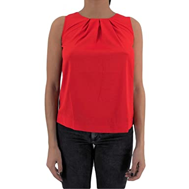 ANONYME - Sweat-Shirt - Femme Rouge Rouge - Rouge - L  Amazon.fr ... a8e786bf1671