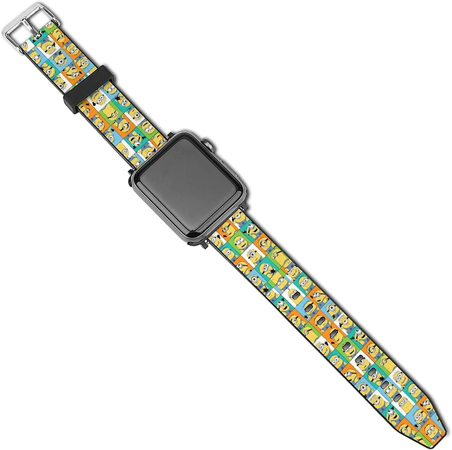Minio-ns Soft Silicone Apple Watch Bands Strap Compatible With IWatch 5/4/3/2/1 for Women Man Replacement Classic Clasp Apple Watch Strap 38mm /40mm 42mm/ 44mm