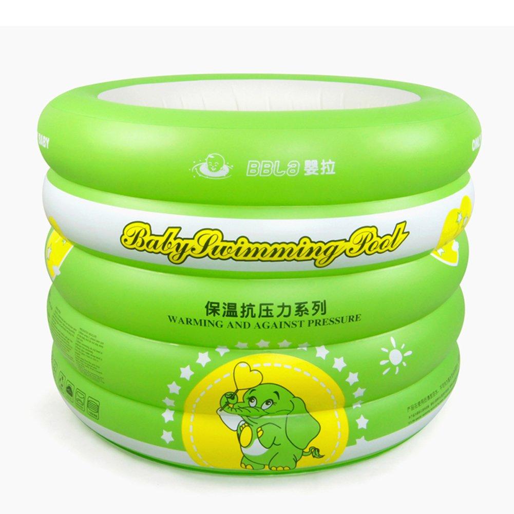 Baby Schwimmbad/Home Neugeborenen Bad für Kinder/Isolierung Verdickung Pool/Familie Runde aufblasbare Babyschwimmen ein Rohr-B