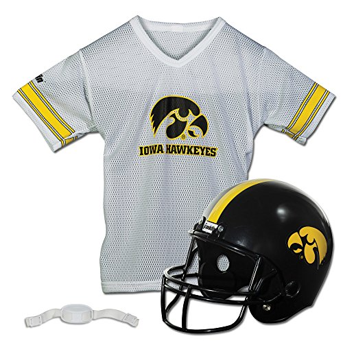 Franklin Sports NCAA Iowa Hawkeyes Helmet and Jersey Set -