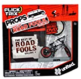 Flick Trix Spinmaster Fingerbike Real Bikes, Unreal Tricks BMX Bicycle Miniature Set - Black Color UNITED Bike with Display Base and DVD Props The Best of Road Fools Volume