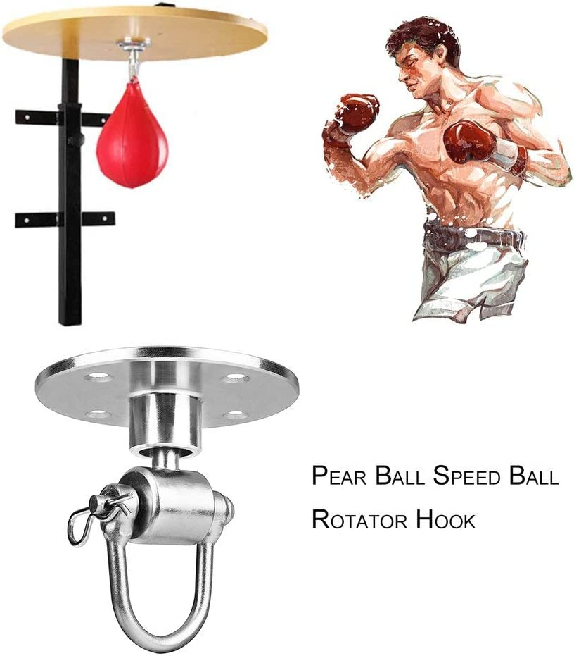 ForceSthrength Profession Fitness Boxe Poire Speed ​​Ball Pivotant Boxe Punching Speedbag Crochet Or