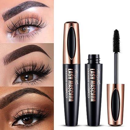 e75a5e6b6eb Promisen Natural 4D Silk Fiber Lash Mascara Lengthening and Thick  Waterproof Mascara Long Curling Mascara Eye