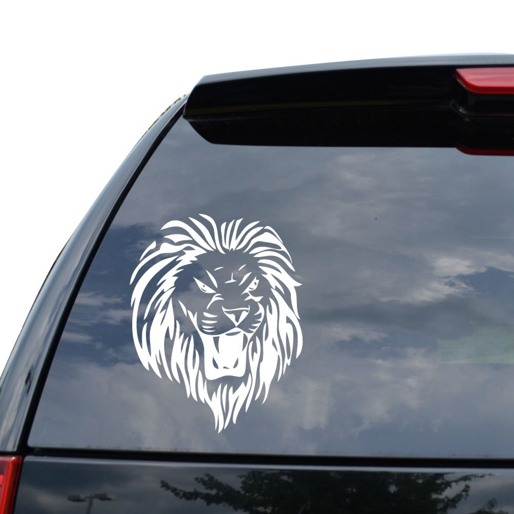 Amazon com tribal art lion roar decal sticker car truck motorcycle window ipad laptop wall decor size 07 inch 18 cm tall color matte white arts