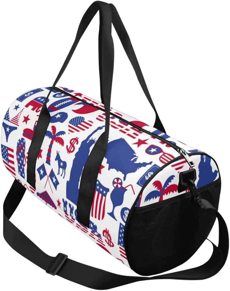 Water-Proof Bag INTERESTPRINT American Design Pattern Travel Duffel Bag