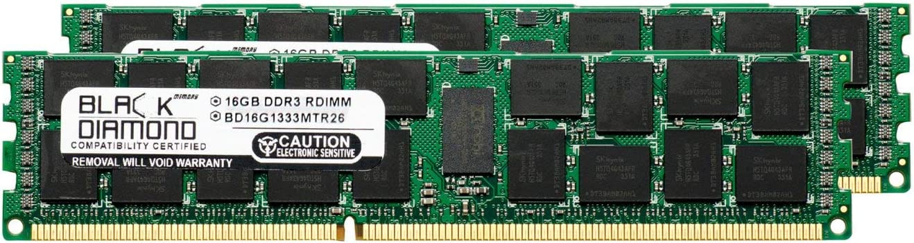 32GB 2X16GB Memory RAM for SuperMicro AS Server AS-1042G-TF 240pin PC3-10600 1333MHz DDR3 ECC Registered RDIMM Black Diamond Memory Module Upgrade