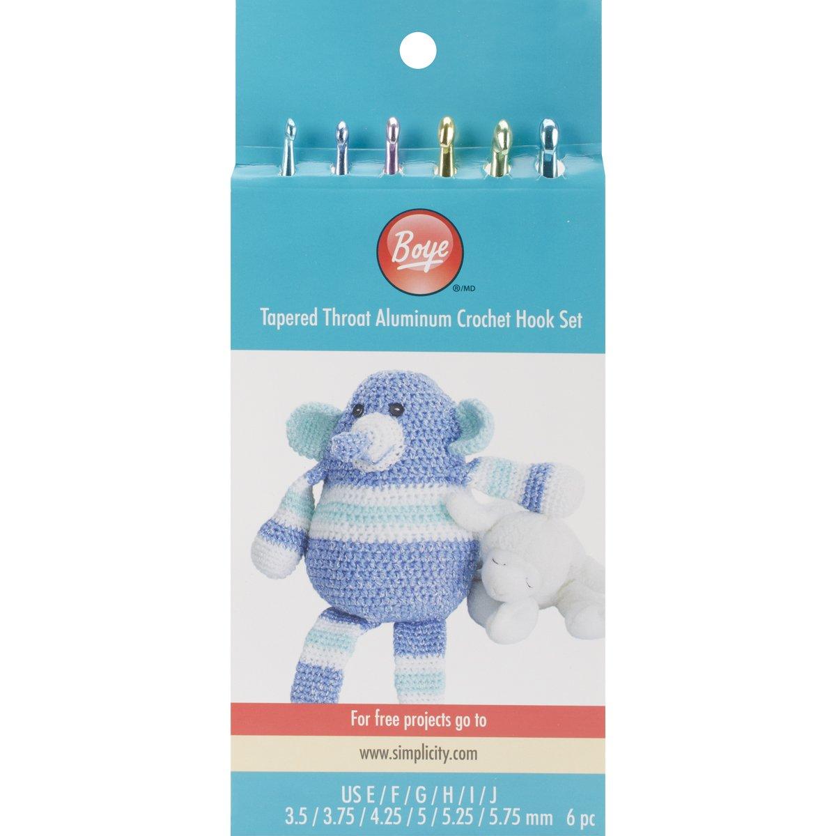 Boye - Juego de Aguja de Crochet de aluminio, tamaños E4 ...