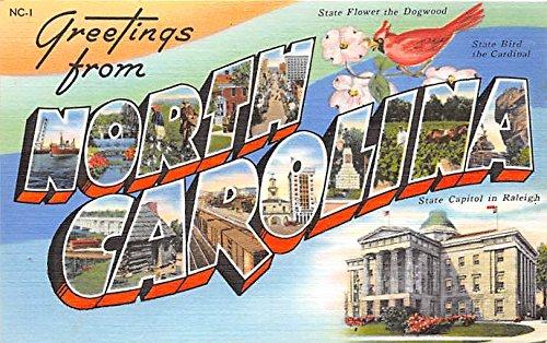 North Carolina, NC, USA Large Letter Postcard
