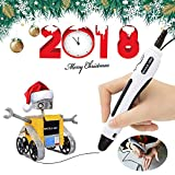 3D Printing Pen, Safer 3D Printing Pen with Gift Box for Kids and Adults, Doodler Model 3D Pencil Making Toys and Art Crafts Tool, Compatible with PCL Filament Refills 1.75 mm (White)