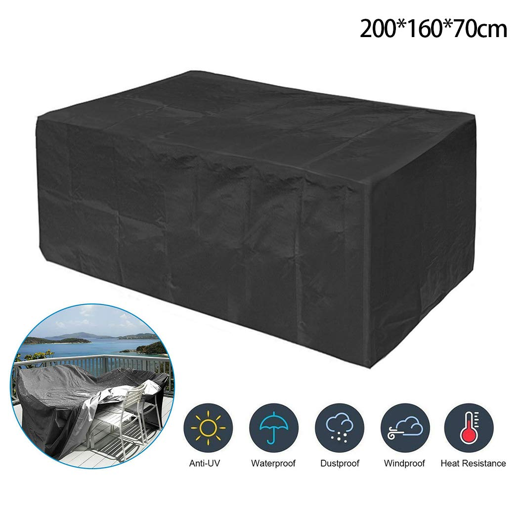 halywa Outdoor Furniture Cover Garden Dustproof Waterproof Protective Cover Shade Sail Hardware