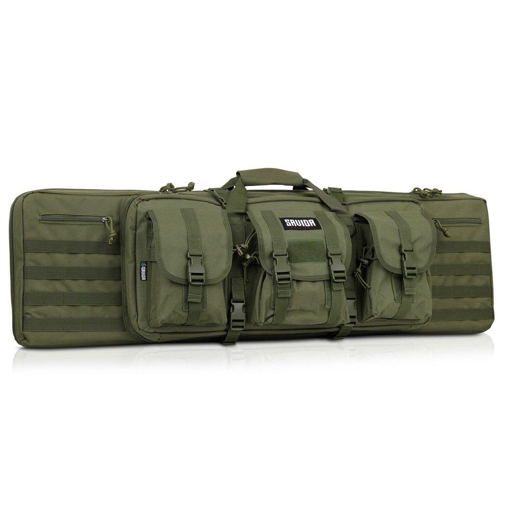 Savior Equipment American Classic Tactical Double Long Rifle Pistol Gun Bag Firearm Transportation Case w/Backpack - 42 Inch Olive Drab Green by Savior Equipment