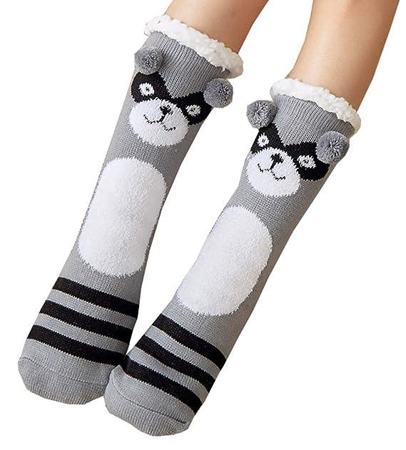 Calcetines de piso para espesar, calcetines de lana para el hogar, calcetines cálidos de otoño e invierno para mujeres, A4: Amazon.es: Ropa y accesorios