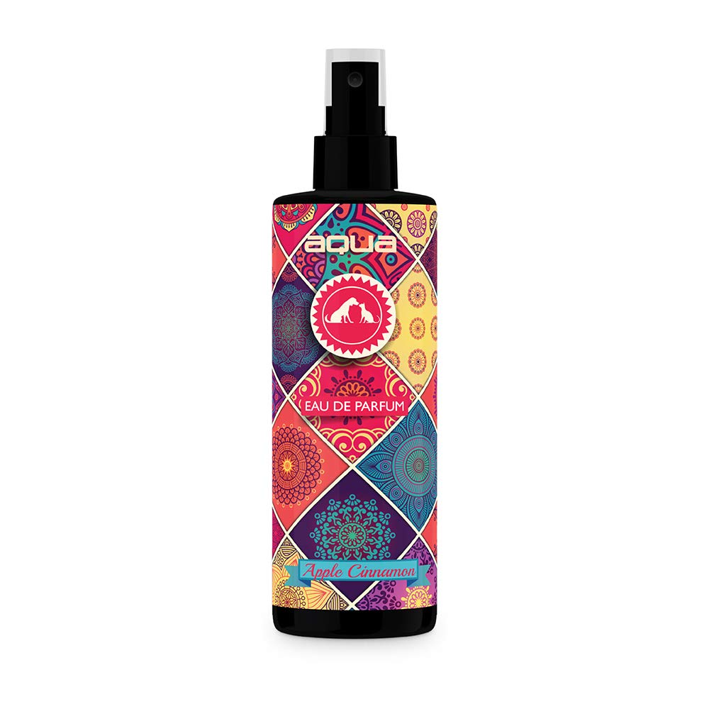 AQUA Pet Care Dog Perfume, Deodorant Spray for Smelly Dogs & Cats, Long Lasting Dog Cologne & Deodorizer-Apple Cinnamon