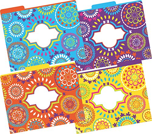 Barker Creek Fashion File Folders - Moroccan, Set of 12 (Fashion Folders)