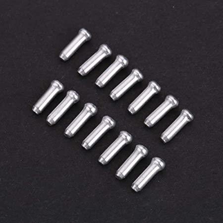 100pcs Silver Aluminum Bicycle Brake Shifter Inner Cable Tip Wire End Caps Cr BA