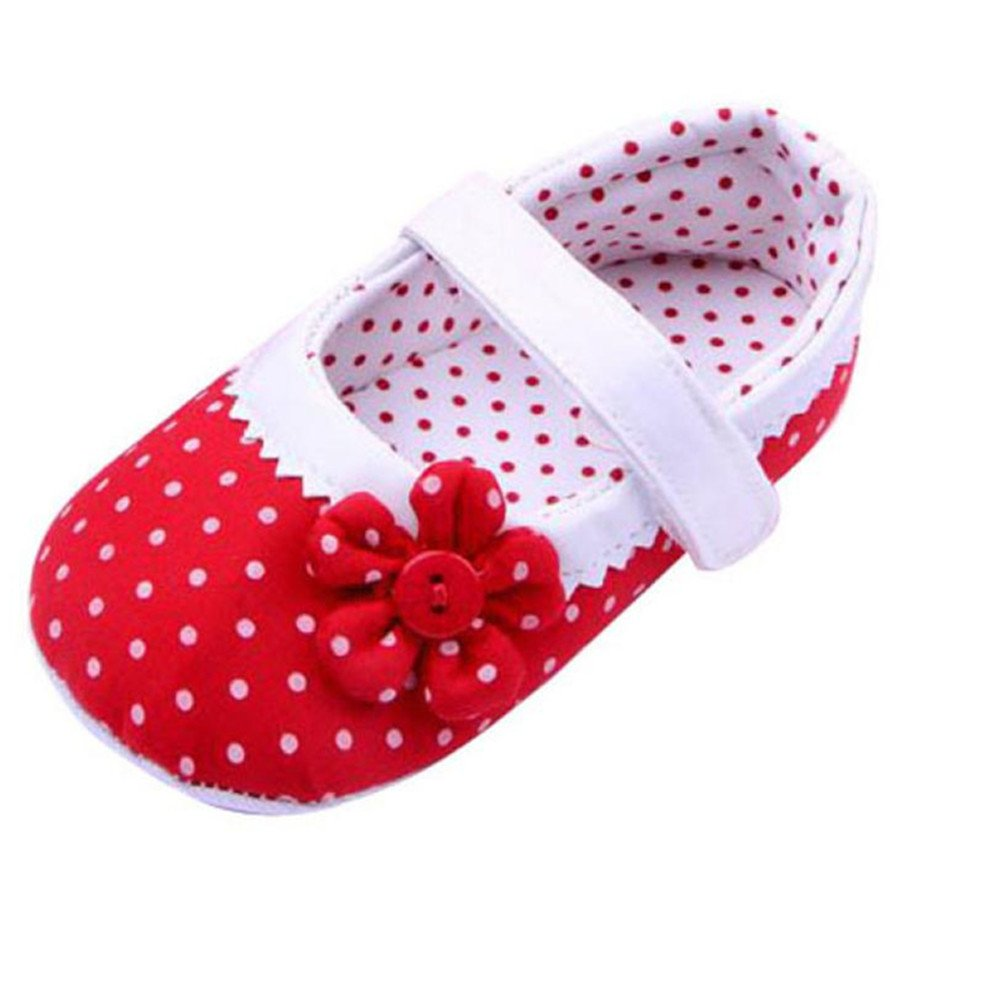 Falaiduo Summer Baby Girls Flower Shoes Soft Sole Toddler PU Leather Crib Shoes