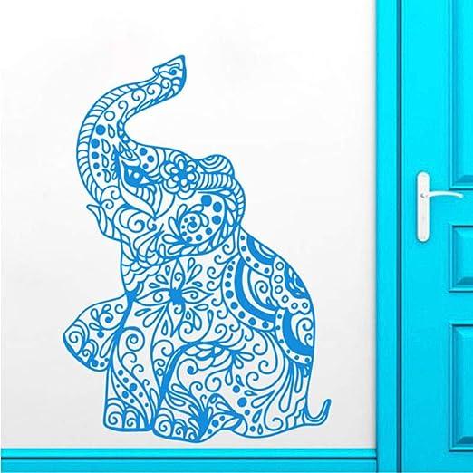 Fushoulu 42X56 Cm Etiqueta De La Pared Elefante Indio Yoga ...