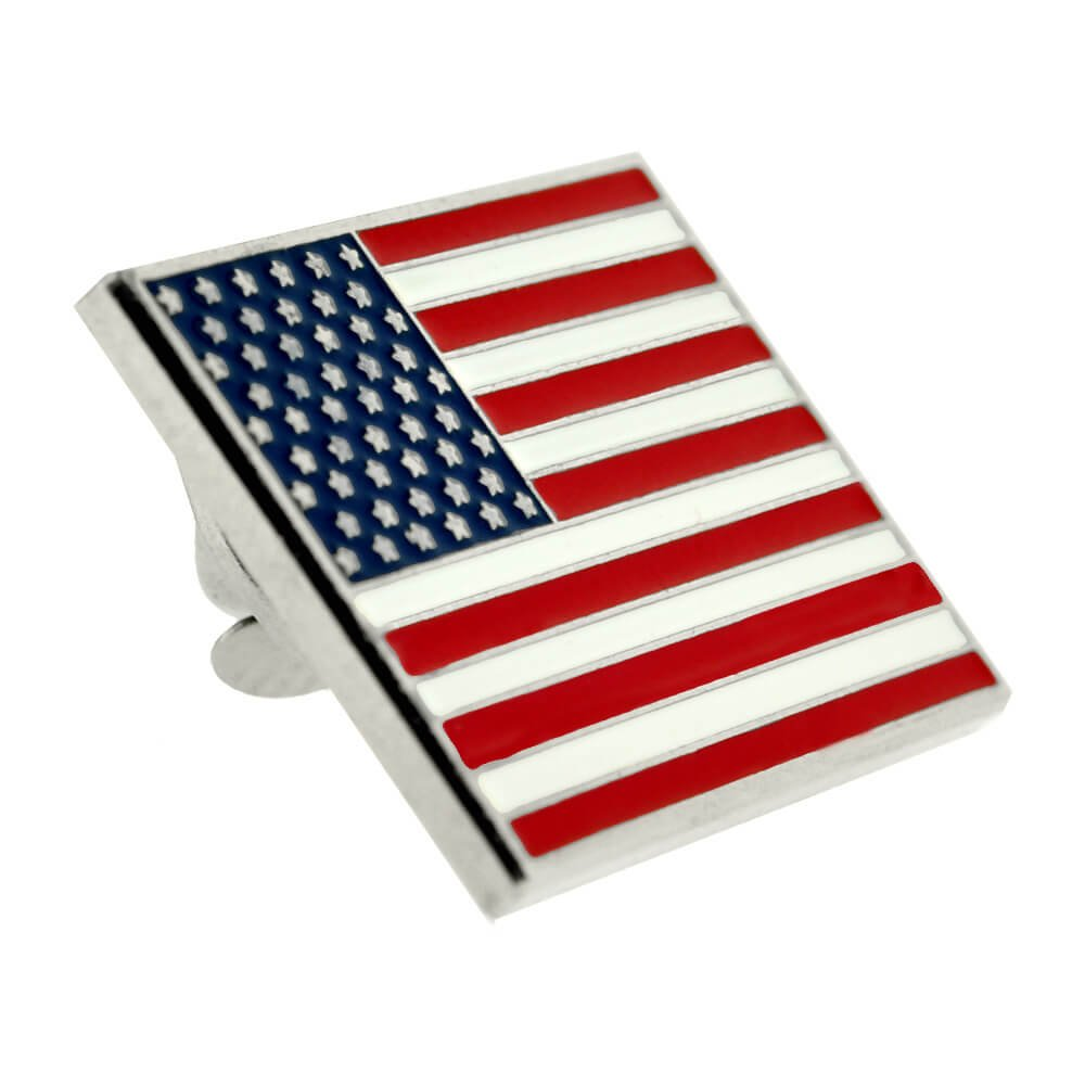 PinMart's Made in USA Rectangle Presidential Suit Jacket American Flag Lapel Pin by PinMart