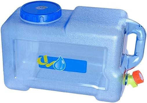 SinceY bidón alimentario Camping con un Grifo 12L, bidón de Agua con Boquilla de plástico Epais para el Transporte de Agua, Viaje Coche casa (1pc)