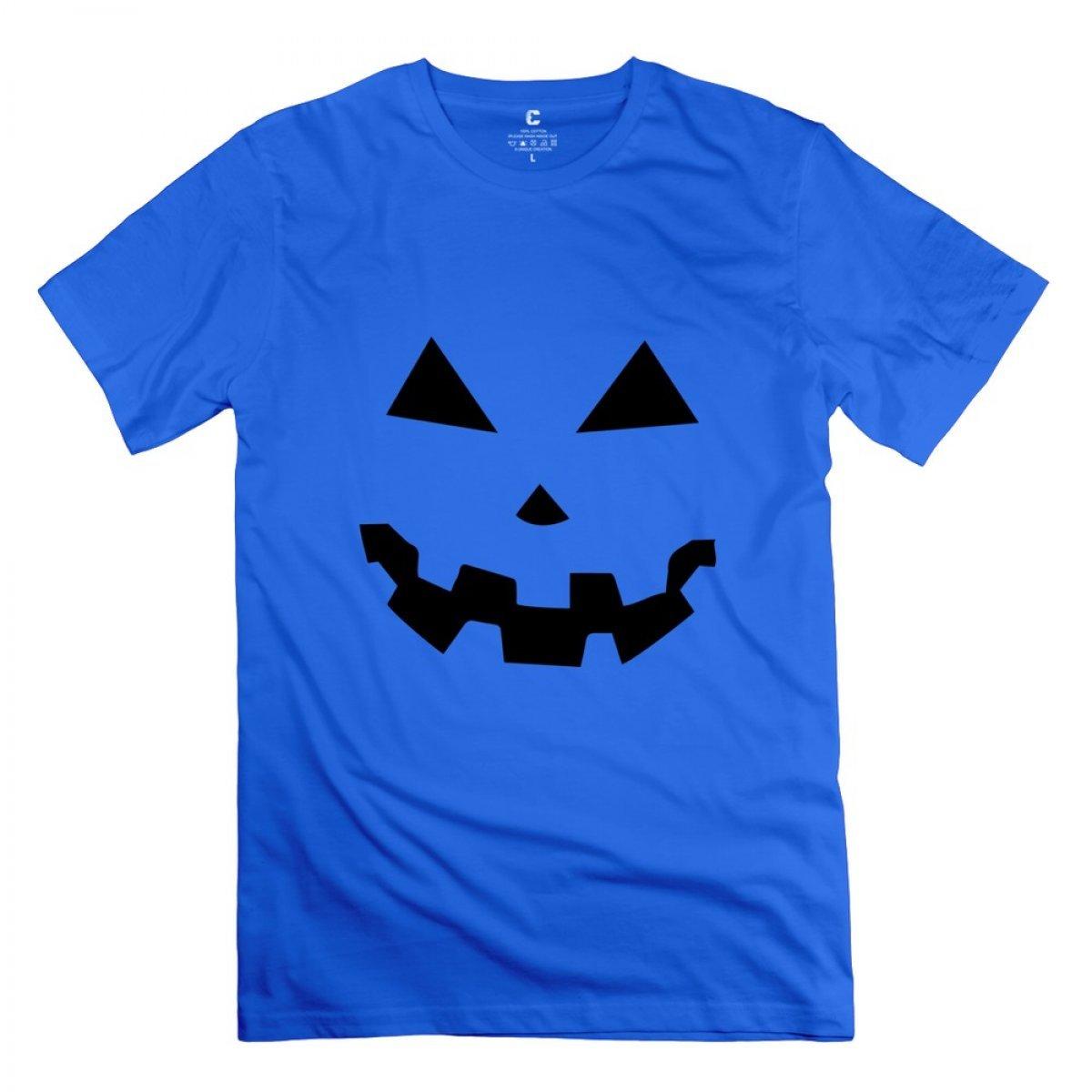 Liaoyang Jackolantern Two Halloween Pumpkins Royal Blue Adult Standard Weight Tshirt For