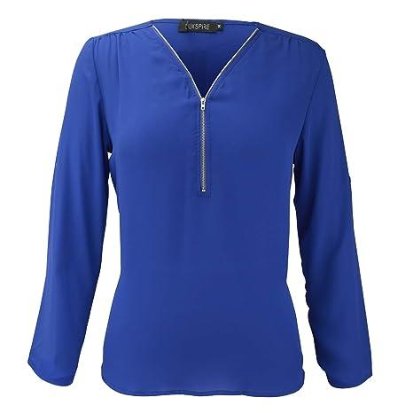 Luxspire Blusas para Mujer, Sexy Camisetas para Mujer, Transpirables Blusas Casuales Adelgadas Regalos Bonitas