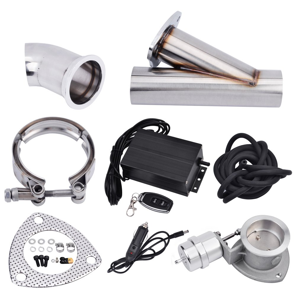 Stainless Steel SS409 Universal High Flow Exhaust Muffler Kit 5 Inlet//Outlet 31 Length For Chevy//GMC Silverado//Sierra Dodge Ram 2500//3500 Ford F250//F350 Turbo Diesel Pickup
