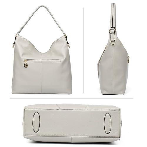 Amazon.com: BOSTANTEN Leather Handbags Designer Tote Purses Shoulder Bags  for Women On Sale Grey: Shoes