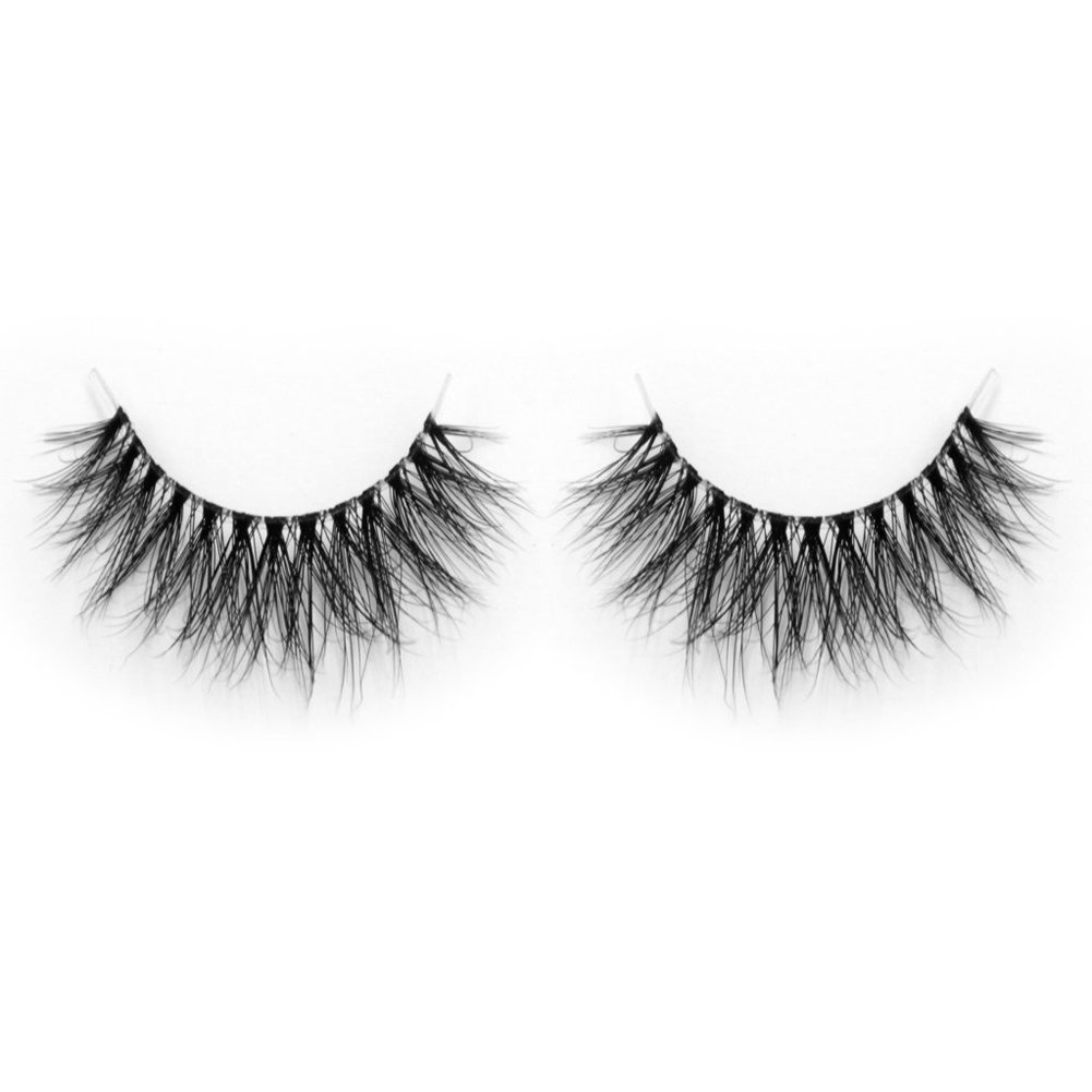 Lunamoon Invisible Transparent Band 3D Mink Fur Fake Eyelashes Women's Makeup False Lashes Hand-made Mink Lash 1 Pair Pack (TD29)