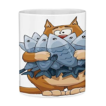 Amazon.com: Funny Coffee Mug with Quote Cat 11 Ounces Funny ...