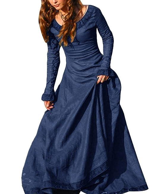 Disfraz De Medieval para Mujer Vestido Gótico Vintage ...
