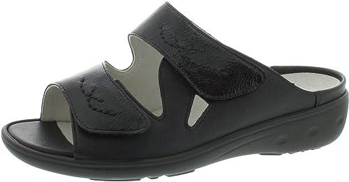 Waldläufer Kara Pantolette schwarz: : Schuhe