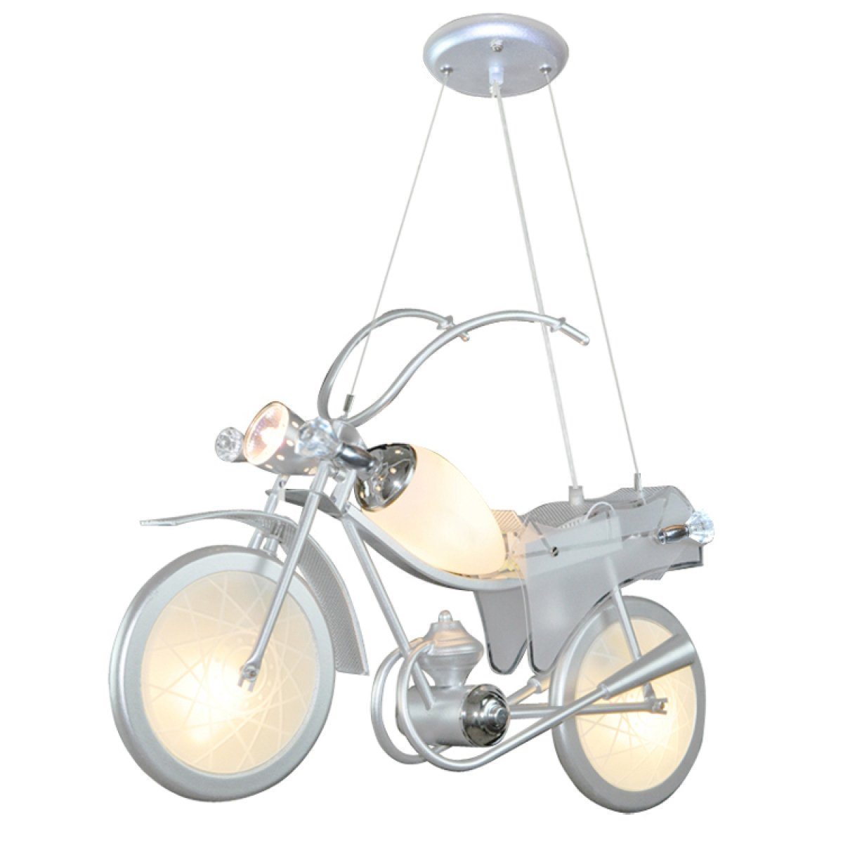 Children's Room Personality Originality Decoration Bedroom Pendant Lamp Clothing Store Kindergarten Motorcycle Remote Control Lamp,A