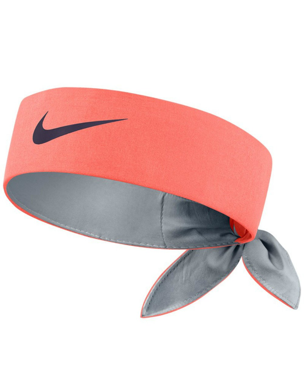 Nike Head Tie Headband (Bright Mango/Black)