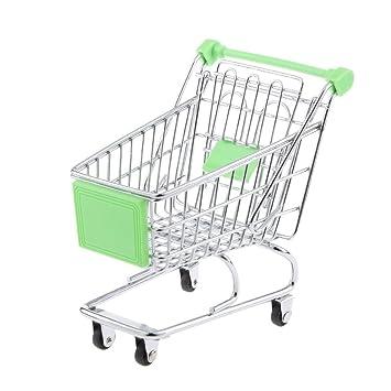 kimberleystore Creative Mini carrito de la compra carro de supermercado carrito con ruedas Asiento (verde): Amazon.es: Hogar