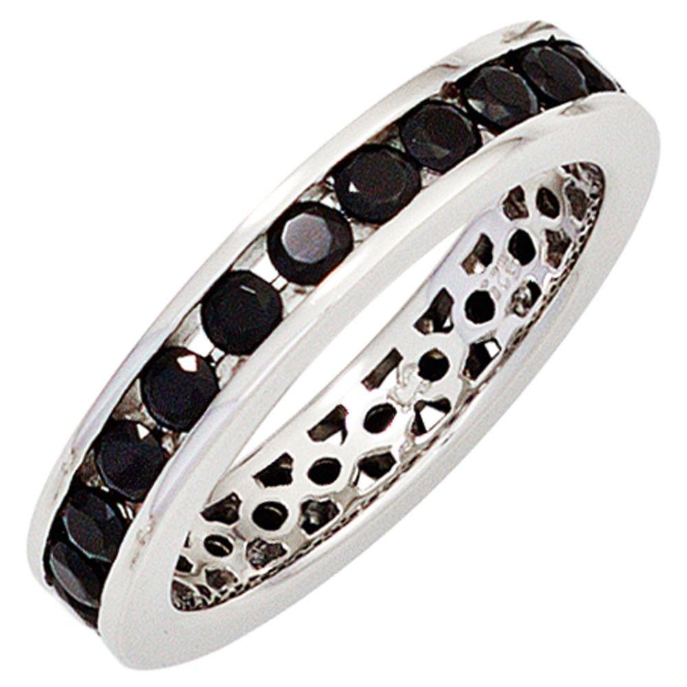 Silberring Ring Damenring aus 925 Silber teilrotvergoldet Zirkonia weiß Damen