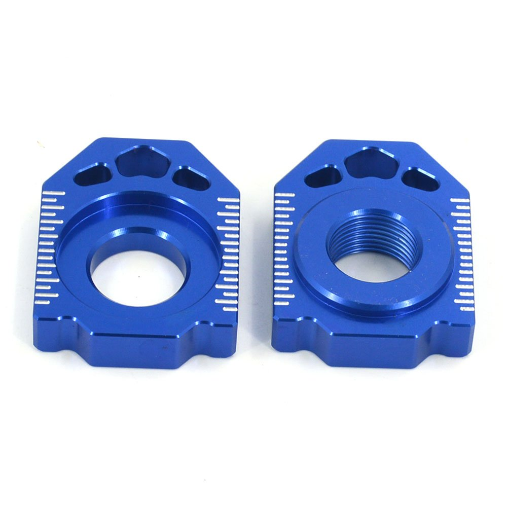 JFG RACING CNC Rear Axle Blocks Chain Adjuster For Kawasaki KX125 KX250 03-08 KX250F 04-16 KX450F 06-16 KLX450R 08-15