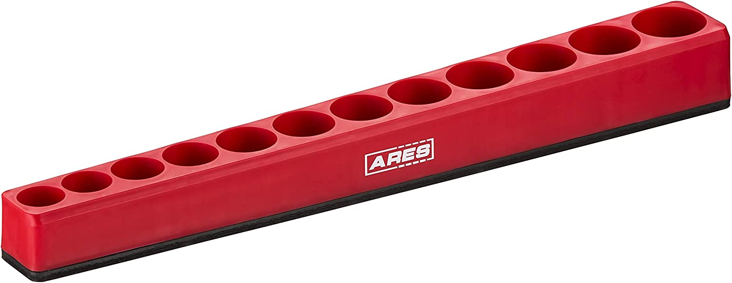 ARES 71239 Keep Your Tool Box Organized Holds 12 Deep Sockets 12-Piece 3//8-Inch Metric Deep Magnetic Socket Holder