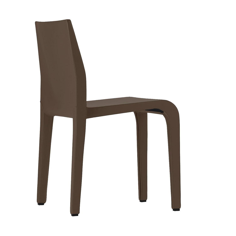 Alias 316 Laleggera Chair Stuhl Leder, dunkelbraun