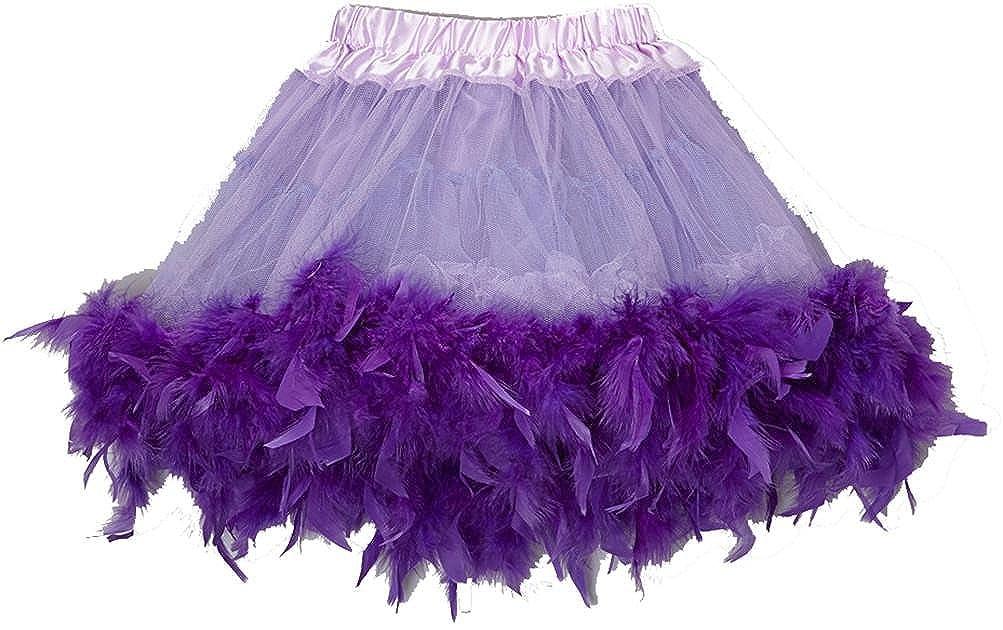 wenchoice Purple /& Lavender Feather Tutu Girls