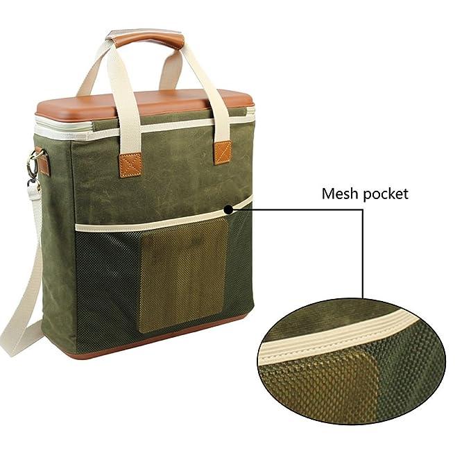 Amazon.com: HappyPicnic - Bolsa térmica aislante para picnic ...