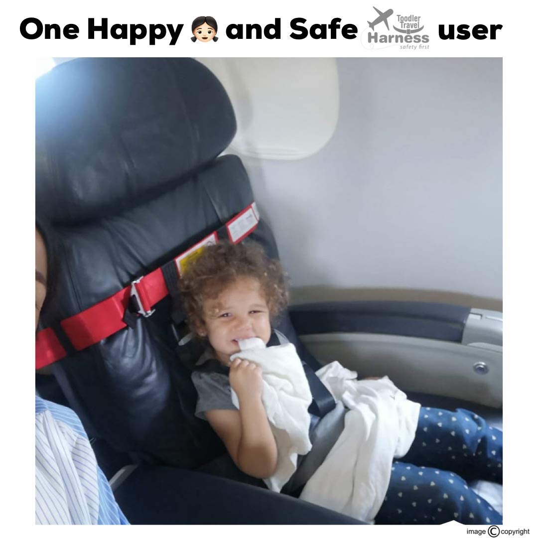 Toddlers /& Kids Only for Aviation Travel - Red Child Airplane Safety Travel Harness Clip Strap Safety Airplane Belt for Baby Airplane Travel Accessories