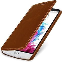 StilGut UltraSlim Case, custodia a libro in vera pelle per LG G3 Stylus
