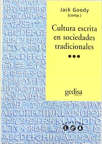 Book Cultura Escrita En Sociedades Tradicionales (Spanish Edition)