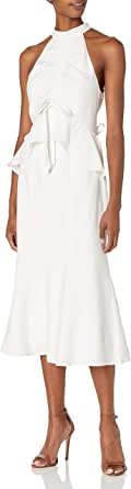 Keepsake the Label Womens 30190137 Luminous Sleeveless Ruffle Midi Dress Sleeveless Dress - White