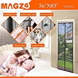 """Magnetic Screen Door Mesh Curtain and Full Frame Velcro-Magnet Door Curtain,Fit Doors Up To 34""""x83"""" Max,Magic Magnetic Closure-Keep Mosquito Fly Bugs Out"""