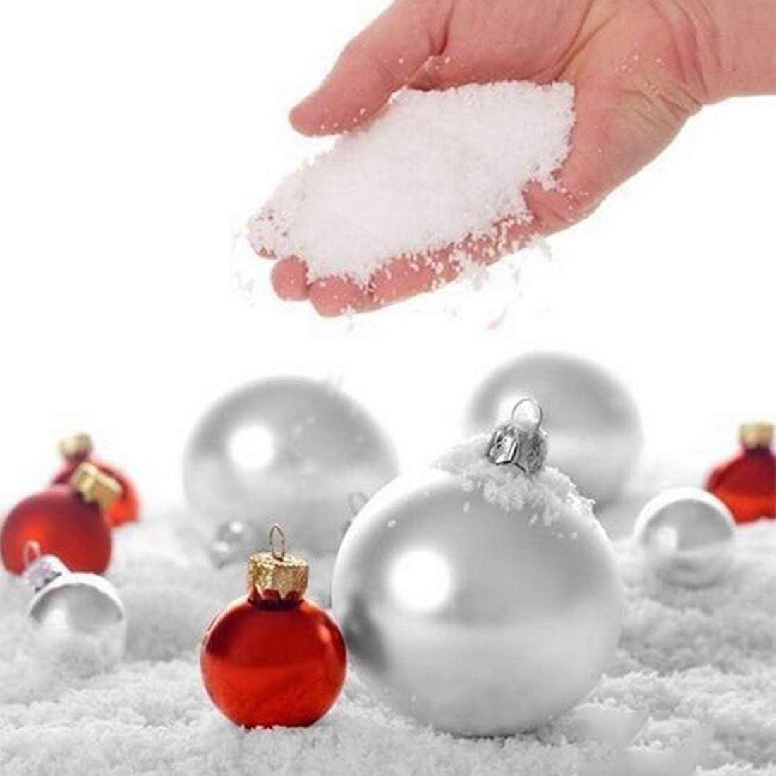 vbncvbfghfgh Fashion 10 Pcs Fake Magic Instant Artificial Snow Scene Play Frozen Wedding Christmas Outdoor Decoration Supplies