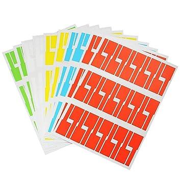Limeo 10 Etiquetas Autoadhesivas para Cables 5 Colores ...