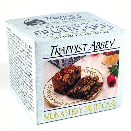 Trappist Abbey Monastery Fruitcake 1 lb. (Christmas Cake Dundee)